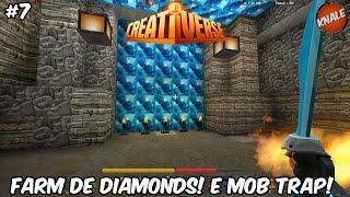 getlinkyoutube.com-Creativerse #8 Farmando Diamantes! E Mob Trap!!