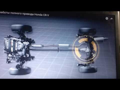 Как работает полный привод на Honda cr-v rd1, rd7. Как подключить постоянный 4 wd