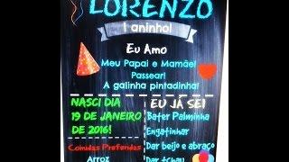 getlinkyoutube.com-Como fazer Chalkboard fácil!!!! Aniversário do Lorenzo#Vídeo4
