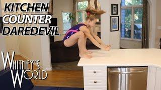 getlinkyoutube.com-Kitchen Counter Daredevil | Whitney Bjerken Kitchen Gymnastics