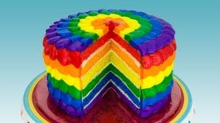 getlinkyoutube.com-Rainbow Cake: How to Make a Rainbow Cake by Cookies Cupcakes and Cardio