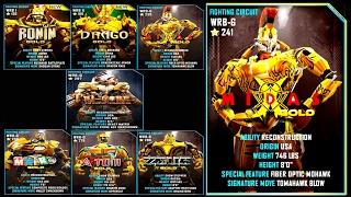 getlinkyoutube.com-Real Steel WRB RONIN GOLD & DRAGO GOLD & WRB G VS MIDAS GOLD   NEW ROBOT (Живая Сталь)