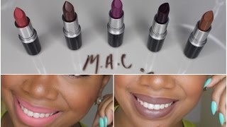 getlinkyoutube.com-Lipstick Files #1: The Matte Lip M.A.C Collection Swatches!