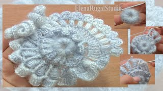 getlinkyoutube.com-Crochet Freeform Flower Tutorial 2 Part 2 of 2 Scrumbling Freeform Crochet
