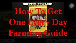 getlinkyoutube.com-WWE Immortals - How To Get 75K Gold Booster Daily Farming Guide