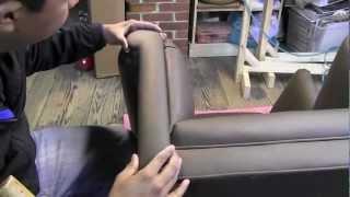 getlinkyoutube.com-Upholstery Wingback Chair Upholstered In Leather.m4v