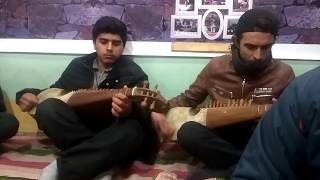 Young rubab player Musicians are practicing at Hunza Art Council