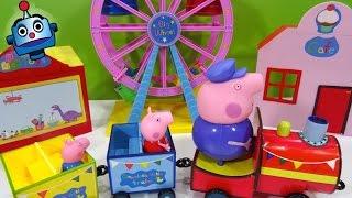getlinkyoutube.com-Peppa Pig Parque de Atracciones Theme Park Ride Set - Juguetes de Peppa Pig
