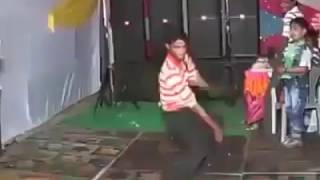 Indian boy dance in cock song width=