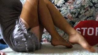 getlinkyoutube.com-Goddess BitterSweet feet & vintage nylon stockings teaser