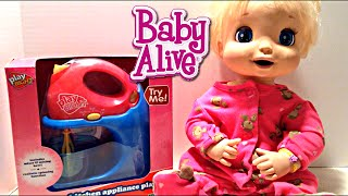 getlinkyoutube.com-Baby Alive 2006 Beatrix Soft Face Doll eats Your Baby Alive Food Recipes!