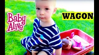 getlinkyoutube.com-Baby Alive BABY ATTACK 6 Worlds Biggest CRAZY Wild Baby Stroller CRASH Baby Alive Boo Boo Doll