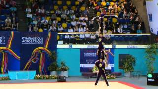 getlinkyoutube.com-CHINA Men's Groups - Combined Qualifications  -- 2014 Acrobatic Worlds, Levallois-Paris (FRA)