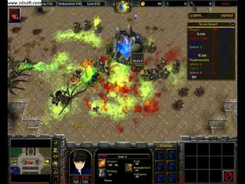Let's play Warcraft 3 Fight of Characters! With HelloMoto500 and HoRRoR1ble [Part 1]