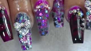 getlinkyoutube.com-how to marble coffin nails