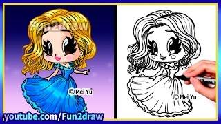 How to Draw A Cinderella Princess - Fun2draw