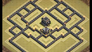 getlinkyoutube.com-Clash of Clans: AMAZING TH9 Push/Trophy/ Clan War Base with Centralized Clan Castle
