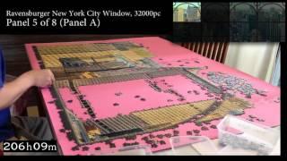 getlinkyoutube.com-Ravensburger New York City Window - 32000 piece Full Timelapse