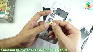 getlinkyoutube.com-How to Install SIM & SD Card in Samsung Galaxy J7-6 (2016)