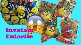 getlinkyoutube.com-EMOJI mingiute /  Baloane pentru copii si stress ball video educativ - Invatam Culorile