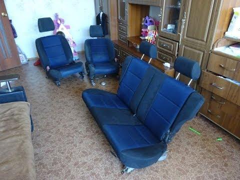 Установка передних сидений и заднего дивана от Mazda Demio Aletta
