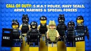 getlinkyoutube.com-LEGO Call of Duty: SWAT Police Navy Seals Army Marines & Special Forces Minifigures Set 2