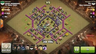 getlinkyoutube.com-Clash of Clans TH8 vs TH8 Golem, Wizard & Pekka (GoWiPe) Clan War 3 Star Attack