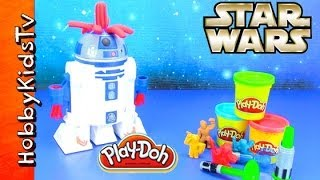 getlinkyoutube.com-PLAY-DOH R2-D2 play set STAR WARS HobbyKidsTV