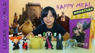 getlinkyoutube.com-ALL NEW McDonald's Happy Meal Hotel Transylvania 2 Figures Toys Review | Lucas World