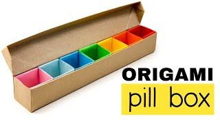 getlinkyoutube.com-Origami Pill Box / Organizer Tutorial  ♥︎ DIY ♥︎