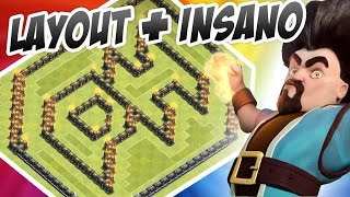 LAYOUT MAIS INSANO DO CLASH OF CLANS (LOGO DO CANAL PH) - LAYOUT TROLL