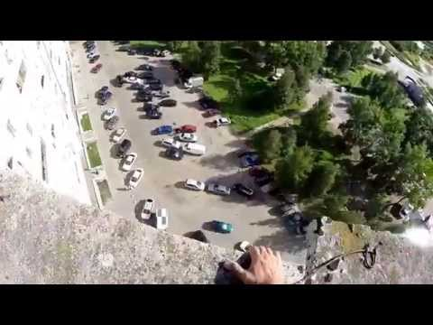 Parkour on the rooftops of Severodvinsk.  GoPro.