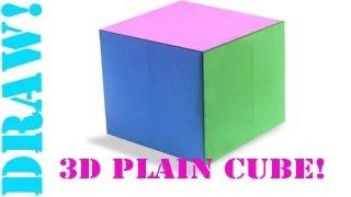 getlinkyoutube.com-Origami Daily - 426: 3D Plain (Basic) Cube (Hexahedron) - TCGames [HD]
