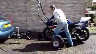 getlinkyoutube.com-Roll On - Roll Off  Motorcycle Trailer