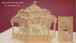 getlinkyoutube.com-HOW TO MAKE A CAROUSEL POP-UP CARD