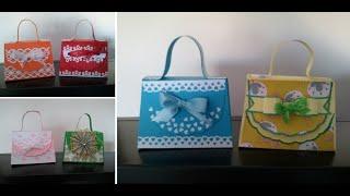 getlinkyoutube.com-Borsette di carta - purses scrapbooking paper- scrapbooking tutorial