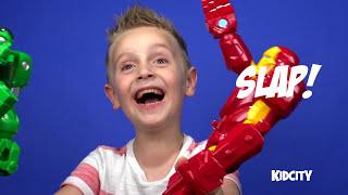 getlinkyoutube.com-HULK vs HULKBUSTER Iron man Kinder Play-doh Surprise Egg with Avengers ToysReview by KID CITY