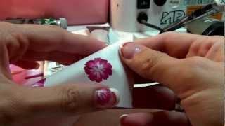 getlinkyoutube.com-Fiori in tecnica one stroke Nail Art