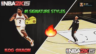 getlinkyoutube.com-NBA 2K15 Cheesiest Signature Styles |7'2 Demigod Cheese |Park/Stage Dribble Moves |All Consoles