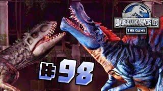 getlinkyoutube.com-Indominus Vs Spinosaurus! || Jurassic World - The Game - Ep 98 HD