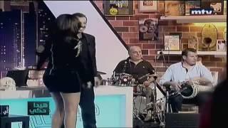 getlinkyoutube.com-Haifa Wehbe sexy live  YouTube