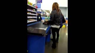 getlinkyoutube.com-Drunk girl at Walmart tryin to buy more drink