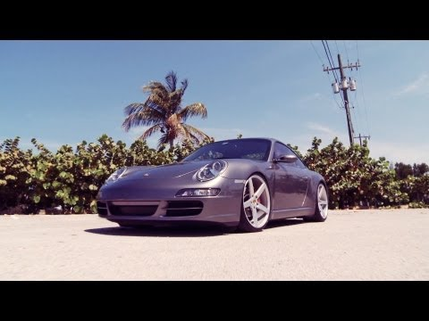 "Porsche 911 Carrera on 20"" Vossen VVS-CV3 Concave Wheels / Rims"