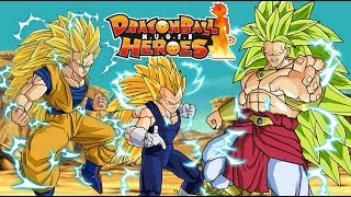 getlinkyoutube.com-Goku & Vegeta vs SSJ3 Broly - Dragon Ball Super Fight M.U.G.E.N