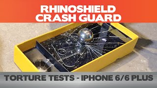 getlinkyoutube.com-Did it pass the test? RhinoShield Crash Guard Torture Tests (11.5 ft drop, 200g screen test)