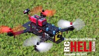 getlinkyoutube.com-RC-Heli-Action: Race-Quadrokopter Alpha 250Q von Graupner