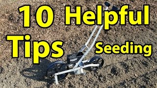 10 Garden Tips Using a Earth Way Seeder - Easy Organic Gardening Series 101 Tips & Secrets # 4