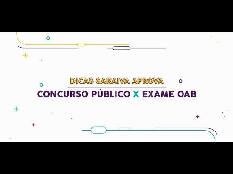 #SUPERDICAOAB - Concurso Público x Exame da OAB