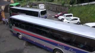 getlinkyoutube.com-この狭そうな場所での大型バス転回、ご覧ください。 全容撮影 西肥バス エアロバス 大型観光バス