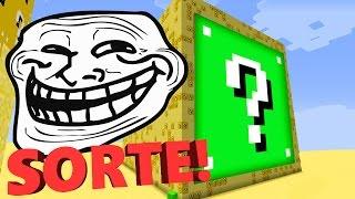 Minecraft CUBÃO : SORTE INFINITA!!  (MINECRAFT TROLL)